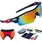 Polarized Sports Sunglasses 5 Set Interchangeable Lenses for Cycling with 35% off 19.98 with coupon code Y4OGQL9E @amazon
