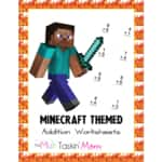 Free Today! Minecraft Themed Addition Worksheets for Kids