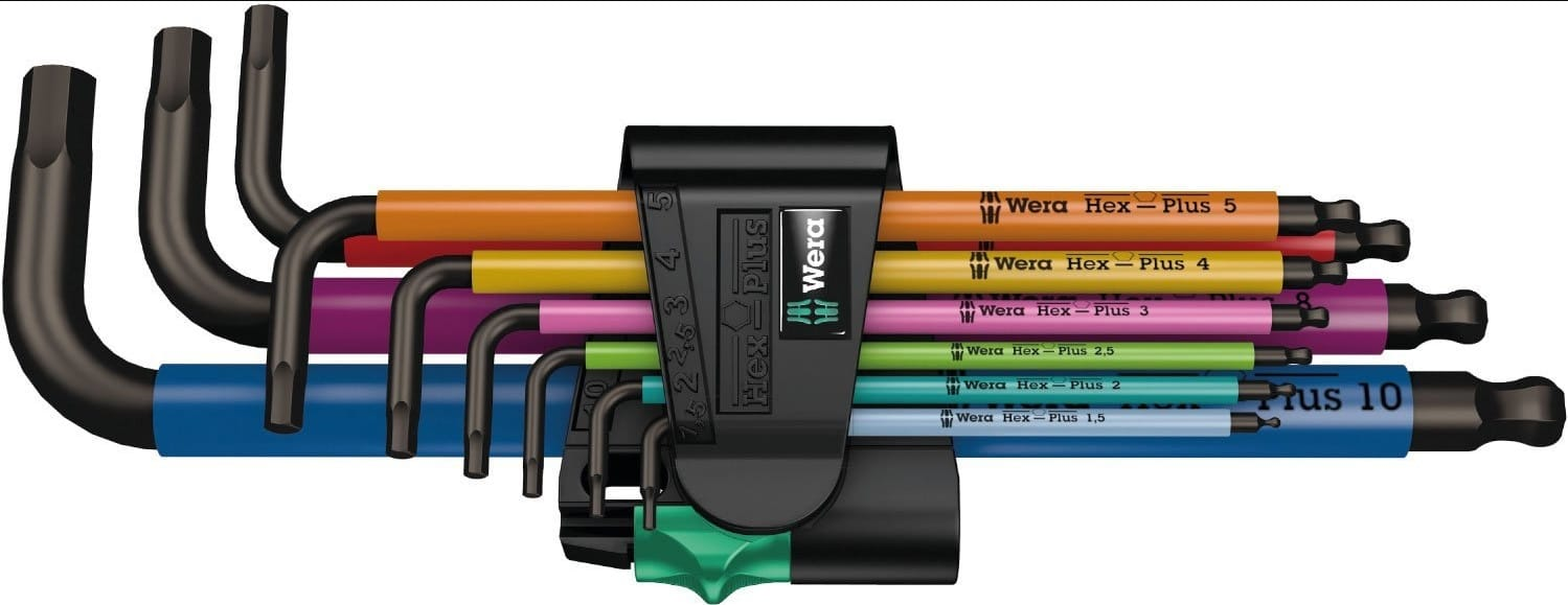 $25.36 Best price. Wera Multicolor L-Key Set, Metric, 9 Pieces
