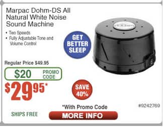 Marpac Dohm-DS All Natural White Noise Sound Machine YMMV (Frys Deals) $29.95 with promocode from newsletter