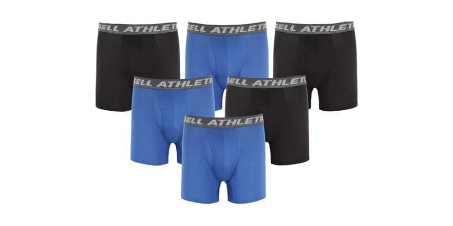 Russell Athletic Performance Boxer Briefs 6 pairs $19.99
