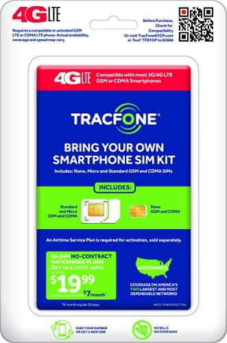 TracFone/Net10/Simple Mobile Sim Cards w/ BOGO Plans - $1 + Free Prime Shipping