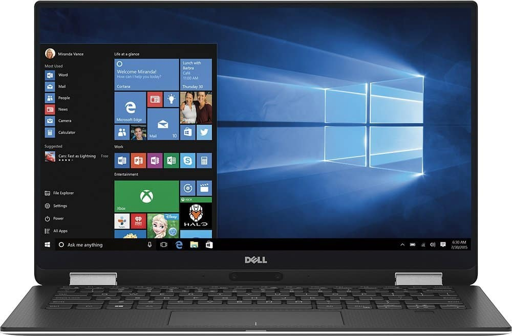Dell XPS 13 9365 XPS9365-7418BLK-PUS 2 in 1 PC $949