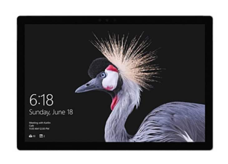 """Microsoft® Surface Pro Tablet, 12.3"""" Touch Screen, Intel® Core™ i5, 4GB Memory, 128GB Solid State Drive, Windows™ 10 Pro, Silver - $499.99"""
