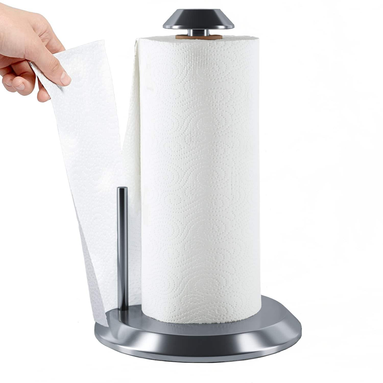 35% Off Home Intuition Stainless Steel Paper Towel Holder w/ Easy One Hand Access $12.97