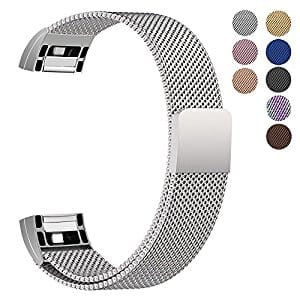 50% Off Fitbit Charge 2 Replacement Bands - Milanese Magnetic Loop Bands From $3.95 + FS