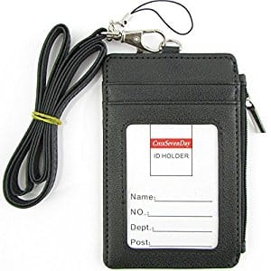 PU Leather 2-Sided ID Card Holder Wallet for $8.12