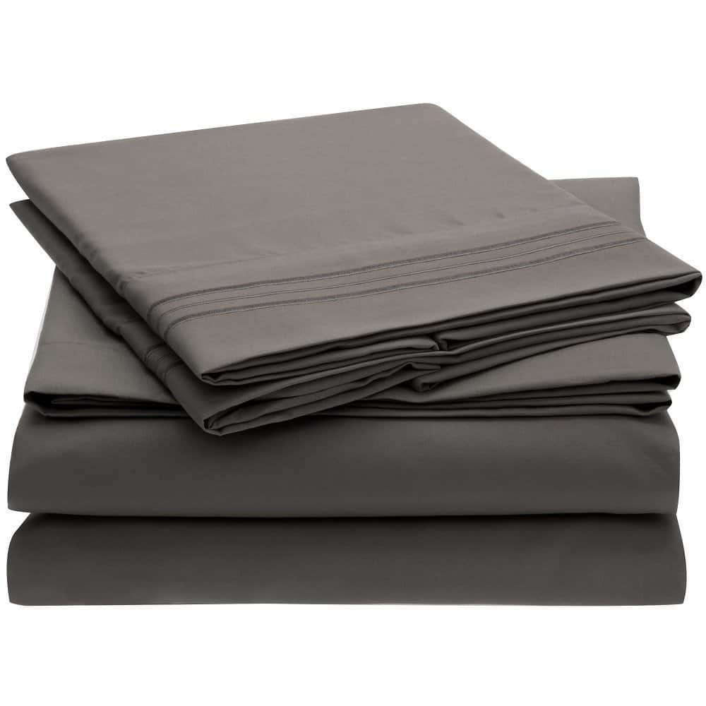 Harmony Linens Luxury Bed Sheet Set - 4 Piece, Deep Pocket [Queen] for $12.95