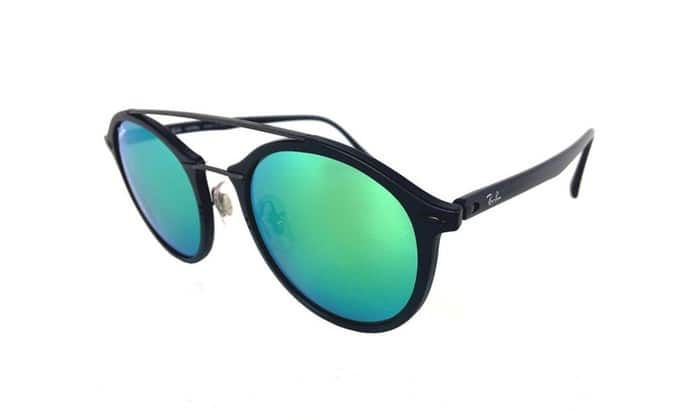 Ray-Ban Round Top Bar Sunglasses with Mirrored Lenses $99.99 MSRP $225