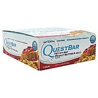 Amazon Deal: Quest Nutrition Protein Bar, Peanut Butter and Jelly, 2.12 Ounce, 12 Count $19.99@ amazon