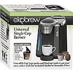 Ekobrew Universal K-Cup Brewer for Keurig 2.0 and 1.0 K-cups $59.99 @amazon