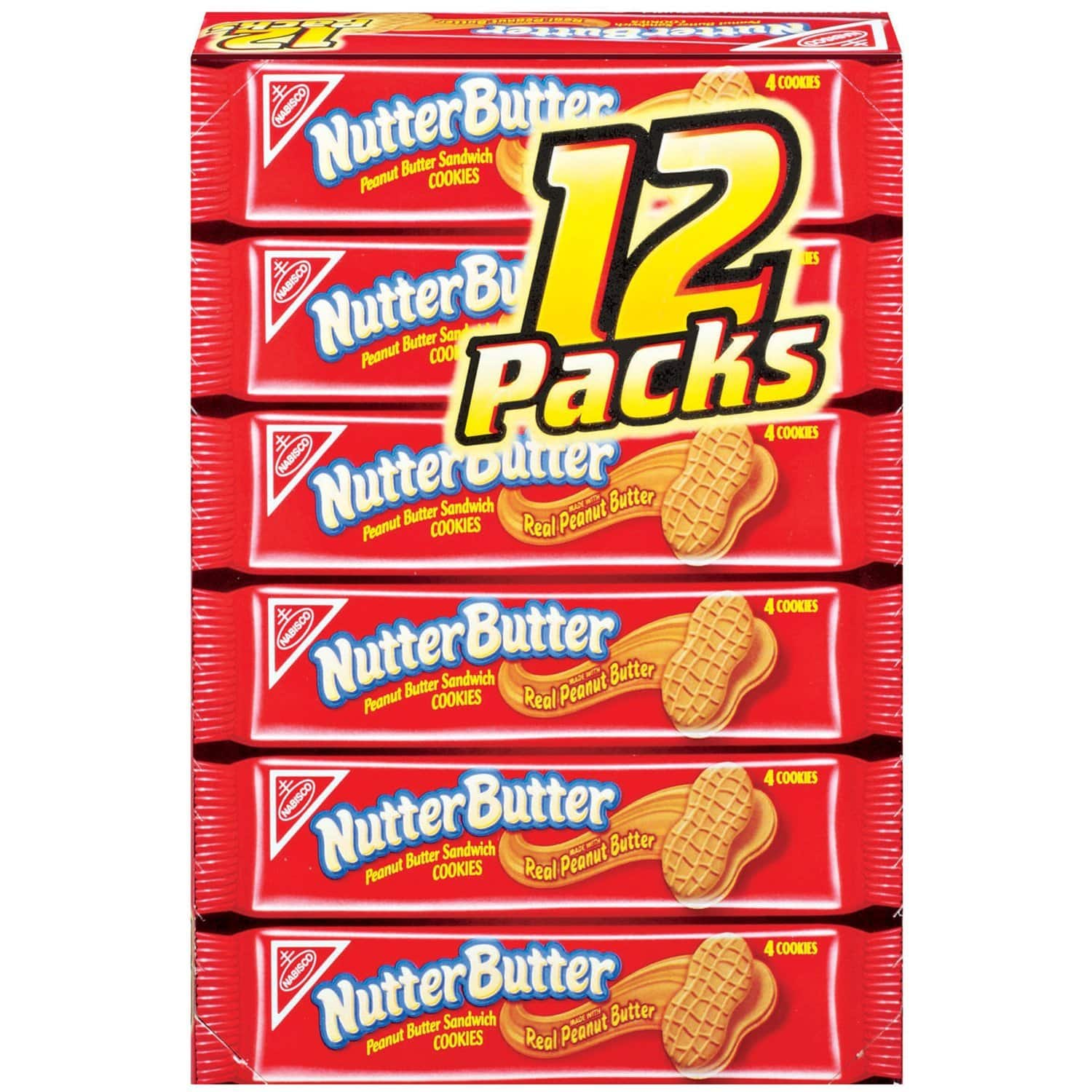 Nabisco Nutter Butter Cookies, Pack of 12, 22.8 oz $4.45 w/S&S@amazon add on item
