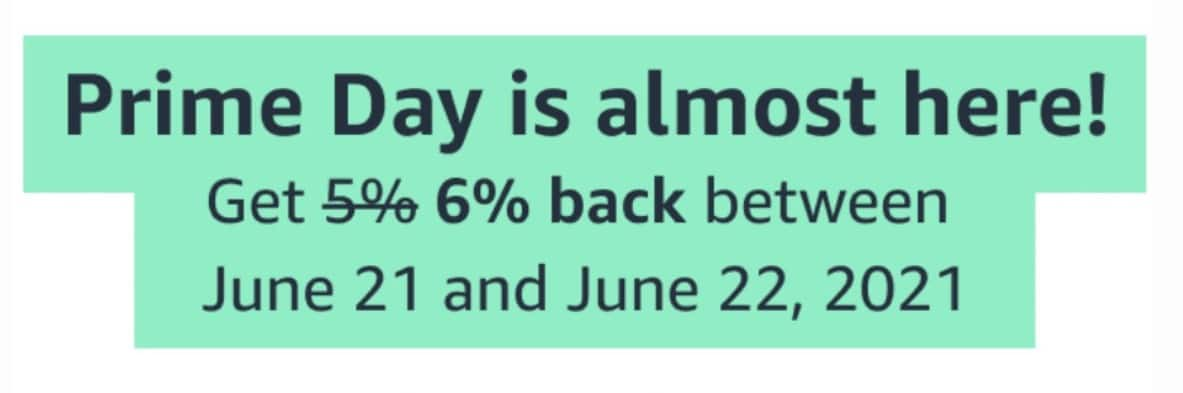 Amazon Prime Cardholders: Earn 6% Back On Amazon Purchases Over Prime Day & Whole Foods Market from 6/21 to 6/22 for Amazon Prime Rewards Visa Card members