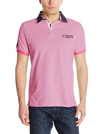 U.S. Polo Assn. Men's Solid Pique Polo Shirt with Contrast Collar $8.73 - $ 14.27 Various Colors @ Amazon