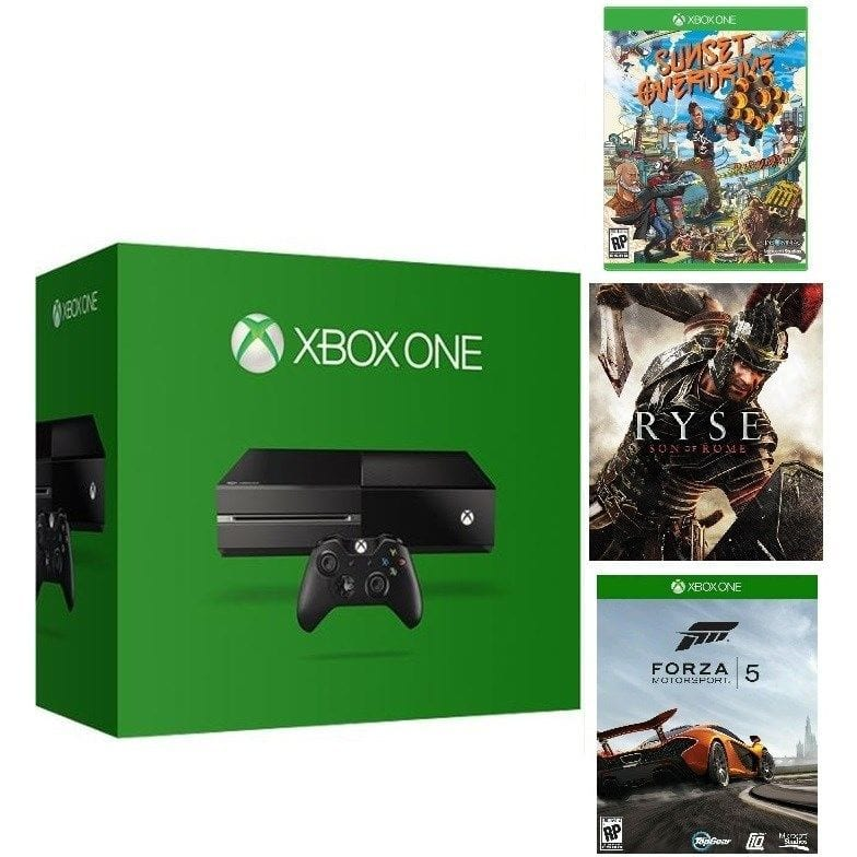 Microsoft Certified Xbox One 500GB Gaming Console - 3 GAME BUNDLE (Includes Forza 5 Download + Ryse +Sunset Overdrive Disc)$219 @ eBay