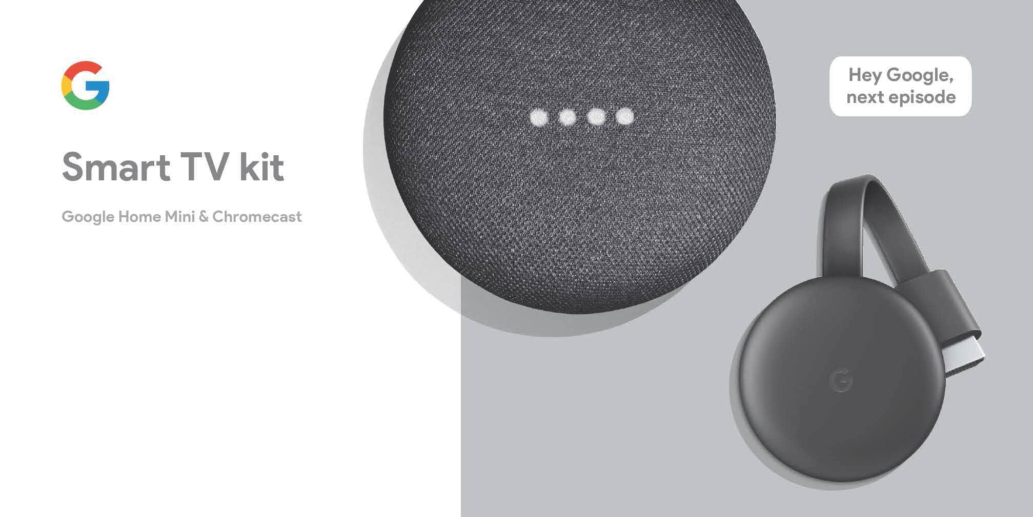 Google Smart TV Kit: Google Home Mini + Chromecast 3rd Generation $49 + FS @ Walmart