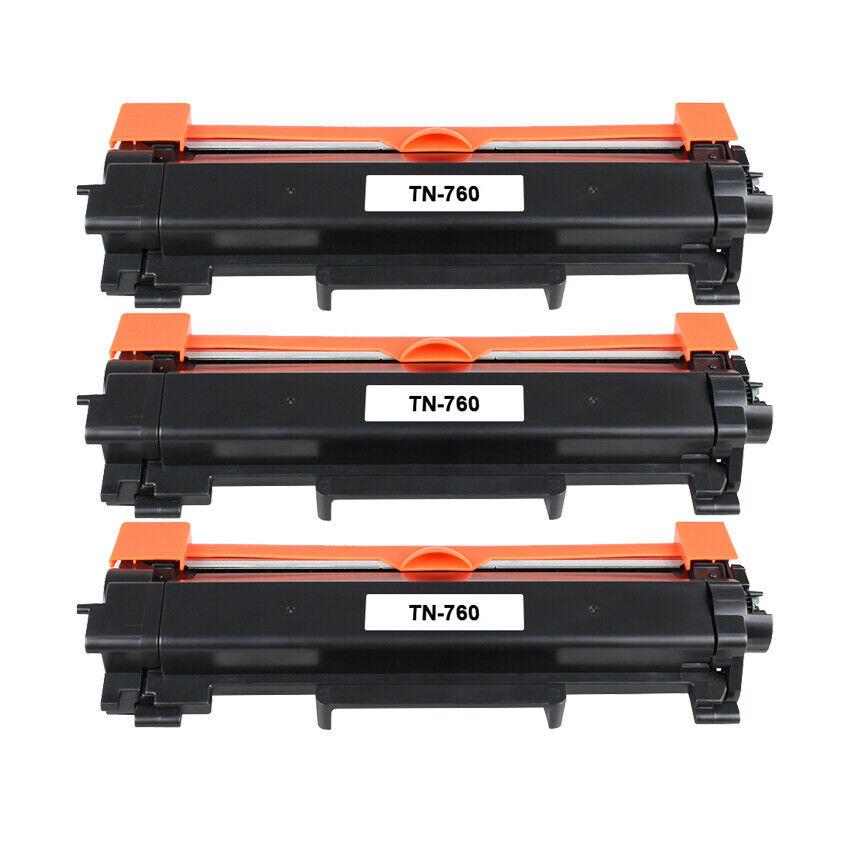 3 pk TN760-NoChip Toner Cartridge for Brother HL-L2390DW HL-L2395DW Printer $23.20