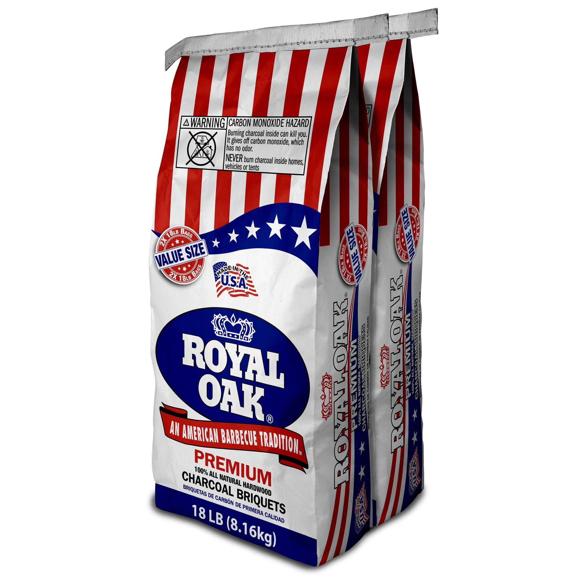 Lowes: Kingsford Original Charcoal Briquettes BBQ Charcoal for Grilling – 20 Pounds Each (Pack of 2) $16.88/Walmart: Royal Oak All Natural Charcoal Briquets, 18 Lb Pack of 2 $8.88