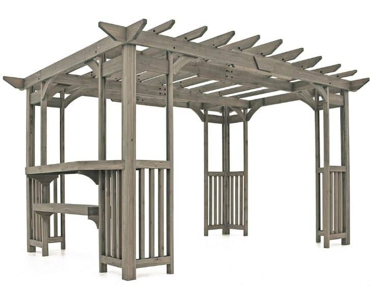 Bj's Wholesale: Yardistry Madison 14' X 10' Pergola with Bar and Sunshade $1049.99 Free Store Pickup