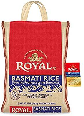 Amazon: Royal Basmati Rice, 15-Pound Bag, White $13.89