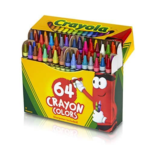 Staples: 64-Count Crayola Crayons with Sharpener (52-0064) $3.29 + Free S/H | Target: 64-Count Crayola Crayons with Sharpener (52-0064) $2.99 + Free Store PU