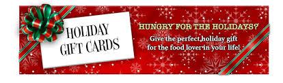 Restaurants Holiday Gift Card Deals