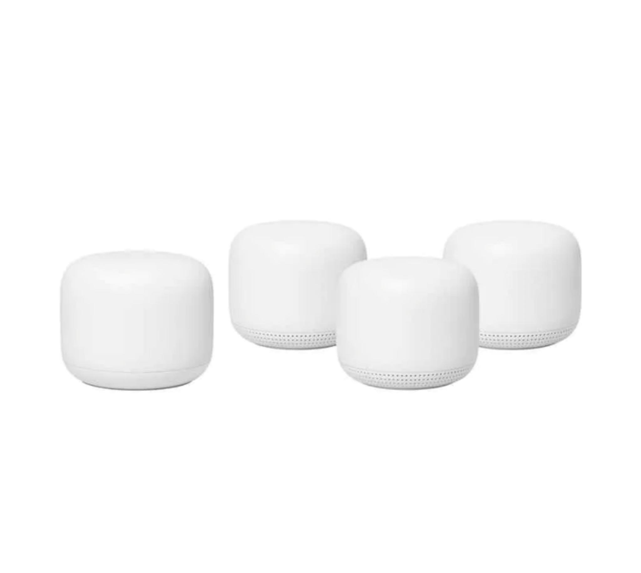 Costco Members: Google Nest Wifi Router - AC2200 Smart Mesh Wi-Fi Router 4 pack $399.99|Google Wifi - AC1200 Smart Mesh Wi-Fi 4 Pack $229.99