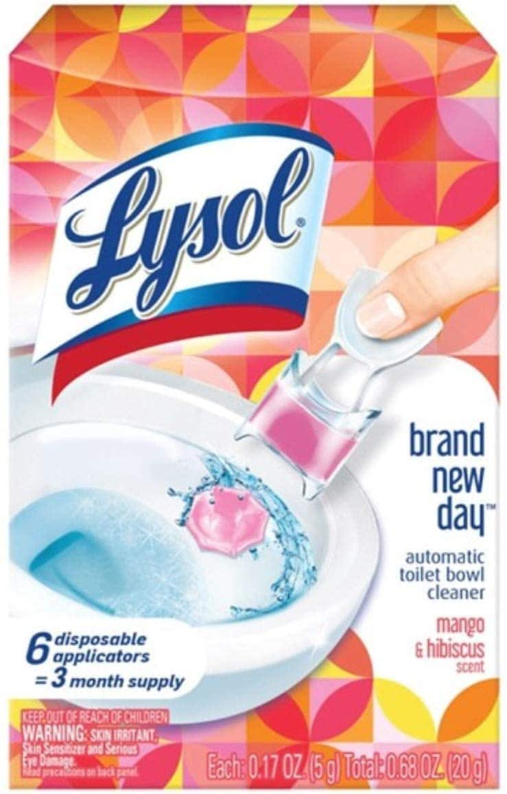Amazon: 80-Count Lysol Disinfecting Wipes (Lemon Lime Blossom)|6-Ct Lysol Automatic Toilet Bowl Cleaner $3.97