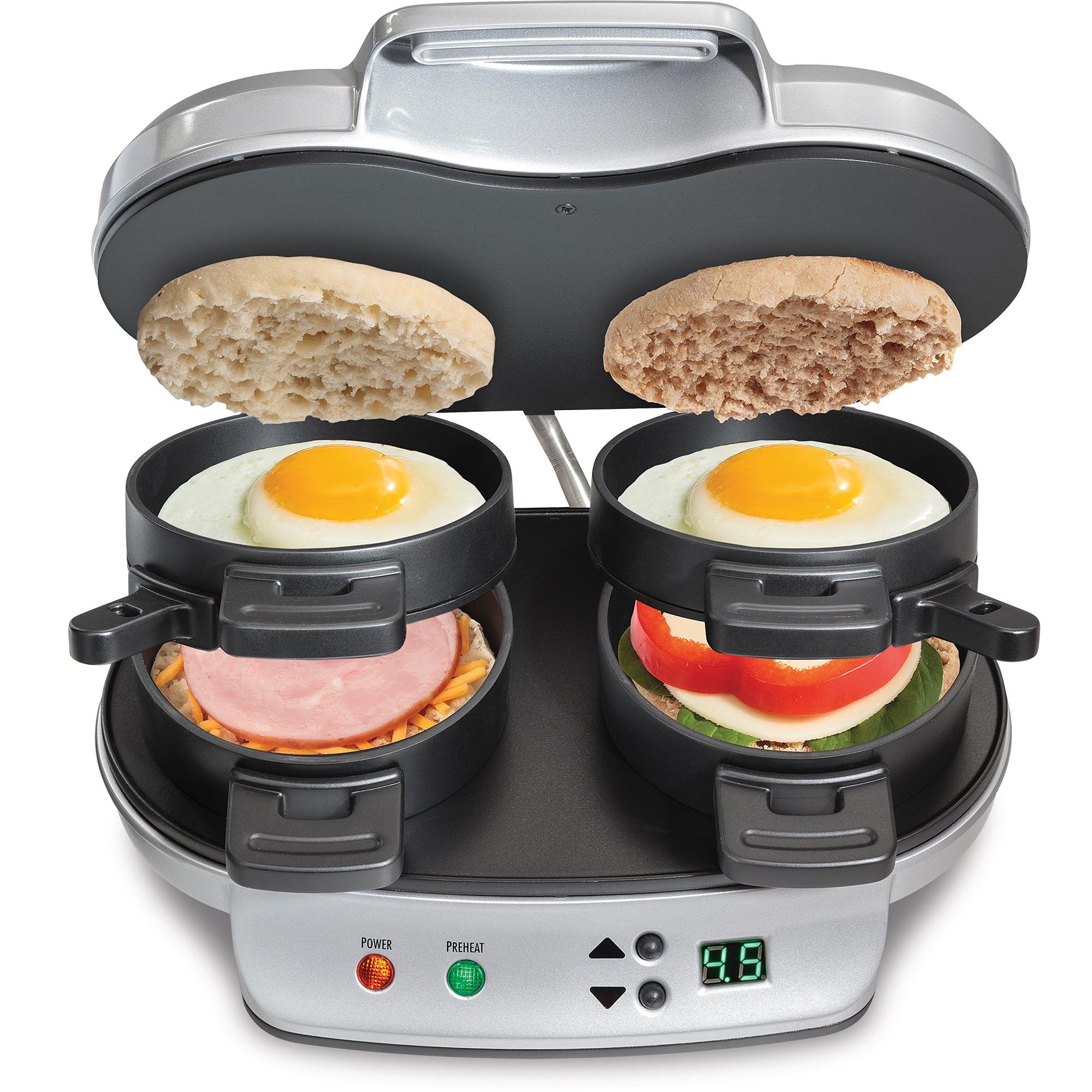 Hamilton Beach Dual Breakfast Sandwich Maker - $19.66 at Walmart, plus tax
