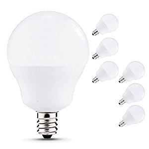 6-pack JCase LED 5watt e12 candelabra light bulbs Soft White (3000K) for $9.49 @amazon