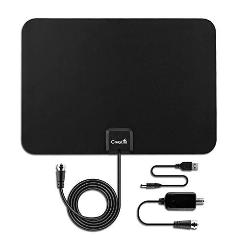 CrazyFire USB Powered 50 Miles Amplified Indoor HDTV Antenna for $8.99 @amazon