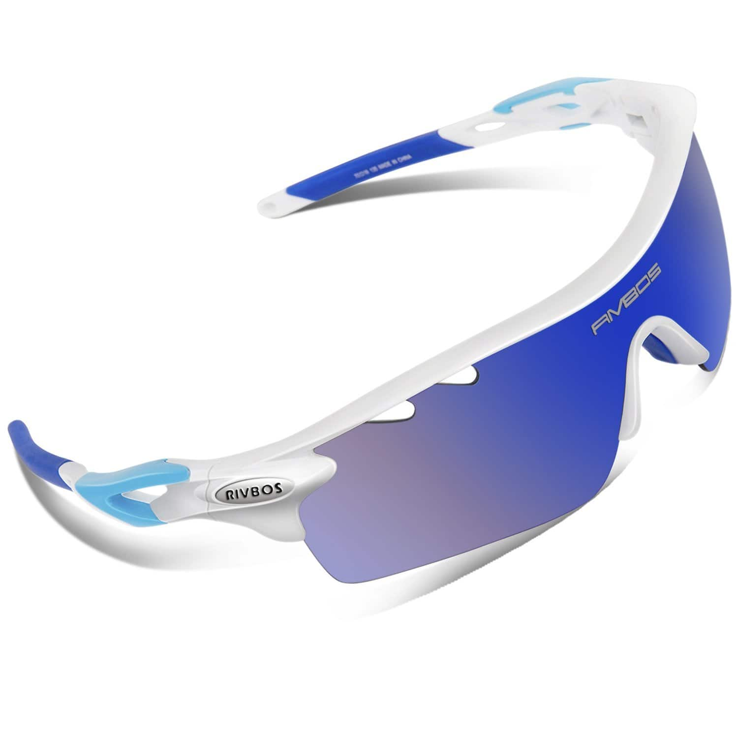 RIVBOS 801 Polarized Sports Sunglasses Sun Glasses with 5 Lenses for $9.99 @amazon