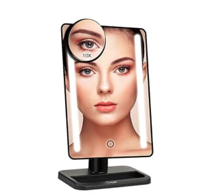$9.85 + fs w/prime for 24 LED Makeup Mirror 12 inch Larger Vanity Mirror @amazon
