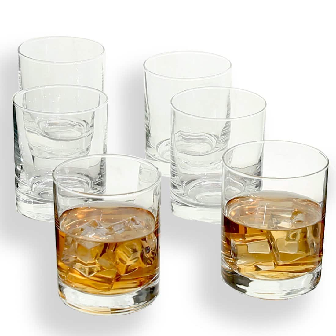 $9.80 for Rock Style Old Fashioned Whiskey Glasses 11 OZ,100% Short Glasses For Camping/Party, (6-pack)