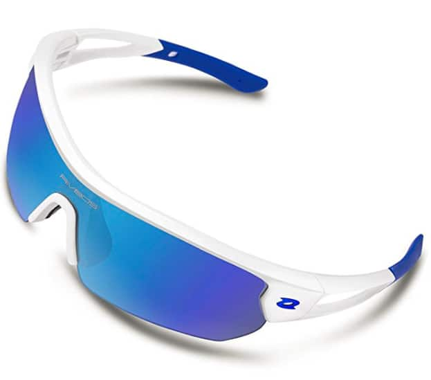 $12.95 + FS W/PRIME  for Polarized Sports Sunglasses Sun Glasses with 4 Interchangeable Lenses @amazon