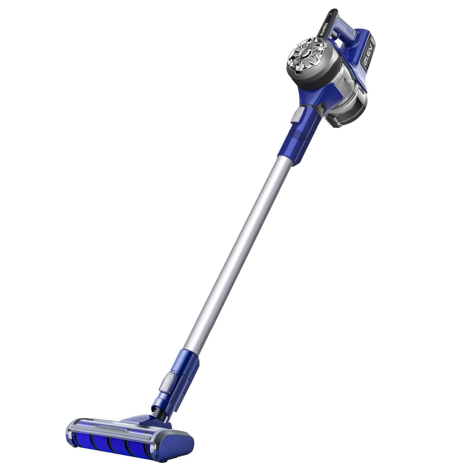 $149.99 for Eureka NEC122A Power Plush Cordless 2-in-1 Stick Vacuum, Rechargeable Lithium Ion Battery with Wall Mount, Grey on Blue Violet