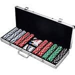 500 Dice Style Casino Weight Poker Chip Set $28.99 + Free Store Pick Up