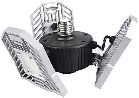 Garage Light Tanbaby LED Garage Light LED Light E26/E27 Garage Lights Ceiling LED Shop Light 60W Deformable LED Adjustable Light $21.99 after $8 coupon