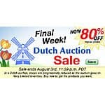 80% off on over 9,000 items at Fire Mountain Gems- Dutch Auction