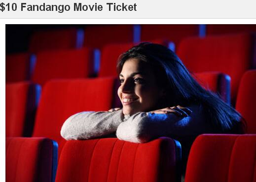 $10 Fandango Movie Ticket for $5, Half Off Depot
