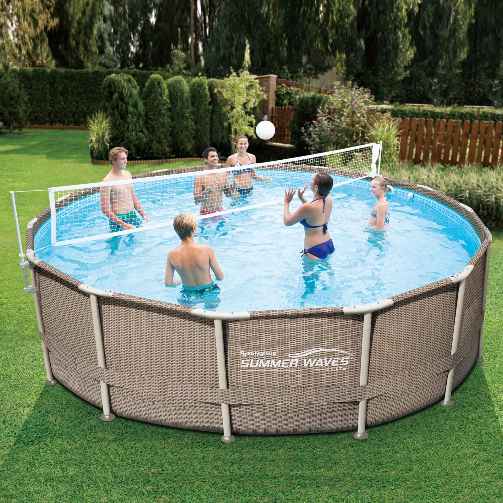 Summer Waves Volleyball Net for 10'-20' Metal Frame Above Ground Swimming Pools $9.99