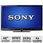"46"" Sony KDL-46HX729 Bravia 3D 1080p 240Hz WiFi Edge LED HDTV"