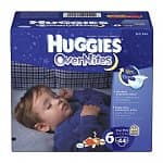 Huggies Overnite Diapers: 52-Count Step 5 $16.50, 44-Count Step 6