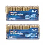 Two 20-Packs Toys R Us AA or AAA Ultra Alkaline Batteries $7, Two 6-Packs C or D