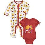 Disney Infant 2-Piece Creeper Sleep Sets: Girls' Minnie, Pooh, or Kitty $6, Boys' Pooh $6, Monsters Inc.