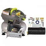 "3-Gallon Craftsman Evolv Pancake Air Compressor w/ 2"" Brad Nailer + Accessory Kit"