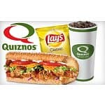 Quiznos: Small Sub + Regular Fountain Drink + Chips
