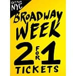 2-for-1 Broadway Tickets NYC: Wicked, Chinglish, Jersey Boys, The Lion King, Mama Mia, Mary Poppins, Godspell, Memphis, Sister act, Phantom of the Opera