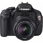 Canon EOS Rebel T3i 18MP DSLR Camera + EF-S 18-55mm f/3.5-5.6 IS II Lens