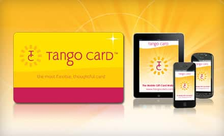 $10 Worth of Tango Card Credit (Redeemable for more than a dozen Name-brand Retailers such as Amazon.com, Target, Home Depot, REI, & Pottery Barn) $5
